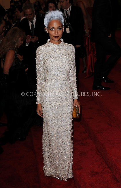 WWW.ACEPIXS.COM....May 6 2013, New York City....Nicole Richie arriving at the Costume Institute Gala for the 'PUNK: Chaos to Couture' exhibition at the Metropolitan Museum of Art on May 6, 2013 in New York City.....By Line: Kristin Callahan/ACE Pictures......ACE Pictures, Inc...tel: 646 769 0430..Email: info@acepixs.com..www.acepixs.com
