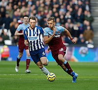 1st February 2020; London Stadium, London, England; English Premier League Football, West Ham United versus Brighton and Hove Albion; Tomas Soucek of West Ham United on an attacking run