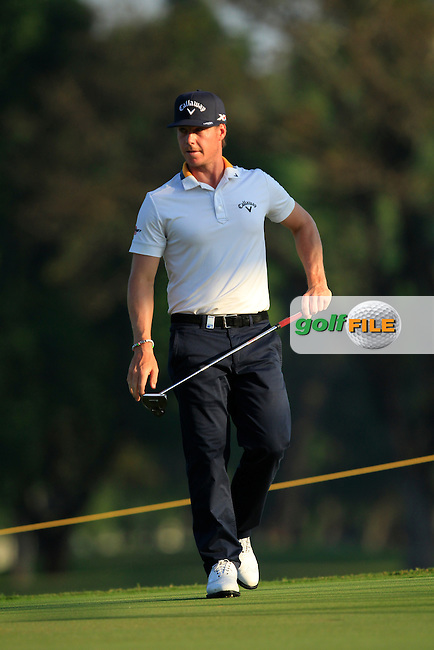 Kristoffer Broberg (SWE) in action on the 10th during Round Four of the Maybank Championship Malaysia 2016, at the Royal Selangor Golf Club, Kuala Lumpur, Malaysia.  21/02/2016. Picture: Golffile   Thos Caffrey.<br /> <br /> All photos usage must carry mandatory copyright credit (&copy; Golffile   Thos Caffrey).