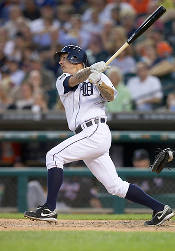 June 28, 2011:  Detroit Tigers third baseman Brandon Inge (#15) at bat during MLB game action between the New York Mets and the Detroit Tigers at Comerica Park in Detroit, Michigan.  The Mets defeated the Tigers  14-3.