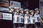 Team Sunweb at sign on before the 2018 Liege-Bastogne-Liege Femmes running 136km from Bastogne to Ans, Belgium. 22nd April 2018.<br /> Picture: ASO/Thomas Maheux | Cyclefile<br /> All photos usage must carry mandatory copyright credit (&copy; Cyclefile | ASO/Thomas Maheux)