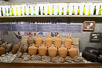 Old amphora. Winery museum. Domaine Gerovassiliou, Epanomi, Macedonia, Greece.