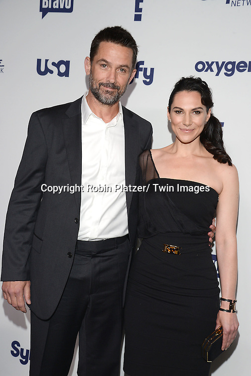 Billy Campbell and Kyra Zagorsky attend the NBCUniversal Cable Entertainment Upfront <br /> on May 15, 2014 at The Javits Center North Hall in New York City, New York, USA.