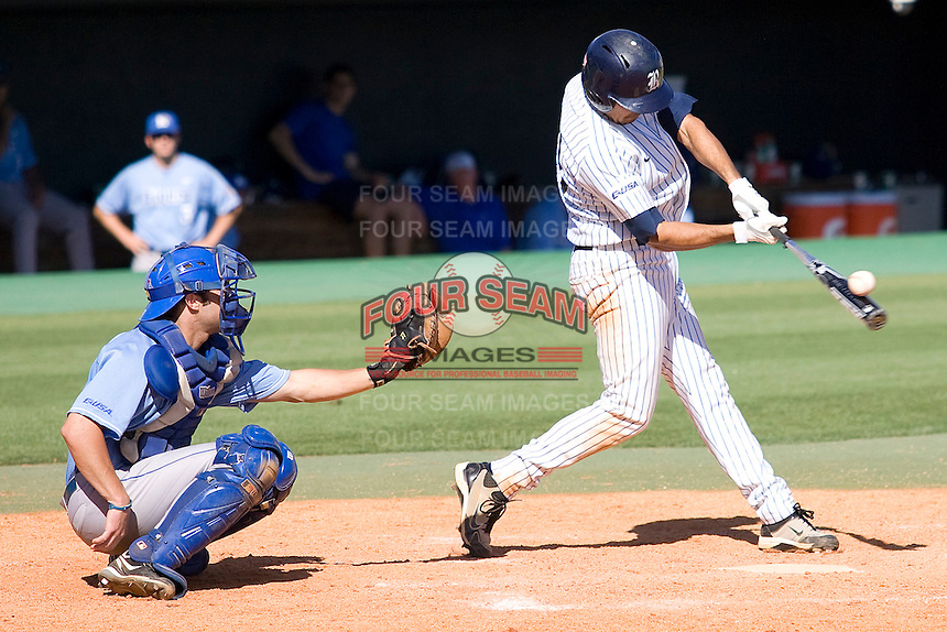 Rice Owls designated hitter Anthony Rendon #23 swings against the Memphis TIgers in NCAA Conference USA baseball on May 14, 2011 at Reckling Park in Houston, Texas. (Photo by Andrew Woolley / Four Seam Images)