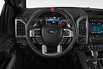 Car pictures of steering wheel view of a 2018 Ford F-150 Raptor Select Doors Door Pick Up