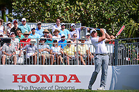Scott Stallings (USA) watches his tee shot on 1 during round 3 of the Honda Classic, PGA National, Palm Beach Gardens, West Palm Beach, Florida, USA. 2/25/2017.<br /> Picture: Golffile | Ken Murray<br /> <br /> <br /> All photo usage must carry mandatory copyright credit (&copy; Golffile | Ken Murray)