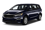 2019 KIA Sedona EX 5 Door Minivan Angular Front automotive stock photos of front three quarter view