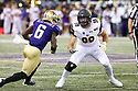 SEATTLE, WA - September 07: Cal's Ben Hawk Schrider during the college football game between the Washington Huskies and the California Bears on September 07, 2019 at Husky Stadium in Seattle, WA. Jesse Beals / www.Olympicphotogroup.com