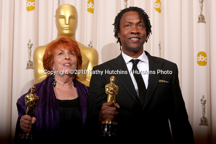 Filmmakers Elinor Burkett and Roger Ross Williams, winners of Best Documentary Short award for 'Music By Prudence,.in the Press Room of the 82nd Academy Awards.Kodak Theater.Los Angeles, CA.March 7, 2010.©2010 Kathy Hutchins / Hutchins Photo....