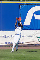 09 September 2012: France Frederic Hanvi catches a fly ball during France 9-8 win in over Belgium, at the 2012 European Championship, in Utrecht, Netherlands.