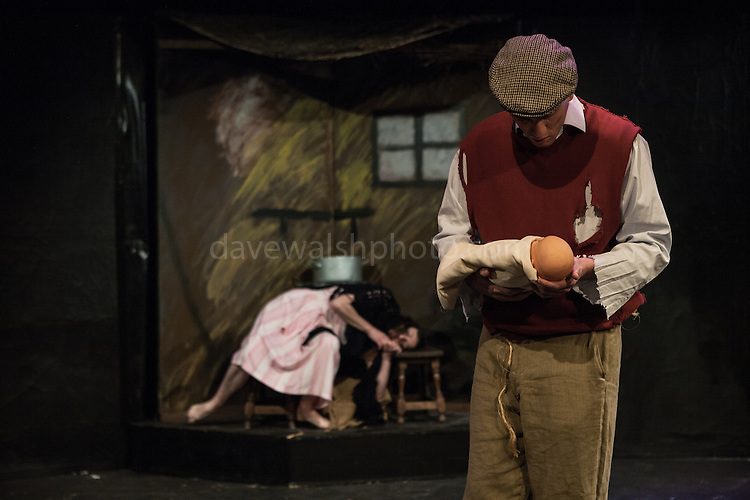 Performance of An Beal Bocht by Myles na gCopaleen at by the Irish Theatre Group at the Warehouse Theatre in Brussels. Photos (c) Dave Walsh 2013, davewalshphoto.com