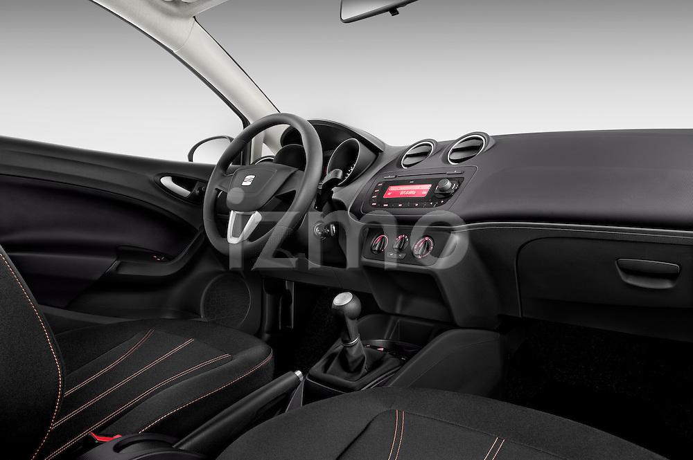 Passenger side dashboard view of 2010 Seat Ibiza ST 5 Door Wagon Stock Photo
