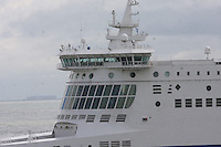 The bridge on the Dunkerque Seaways ship of the DFDS Seaways fleet entering the Port of Dover, Kent on 24.5.13.