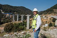 Puente #3 (Bridge #3) Engineer Luis Rojas Nieto supervises 2 bridge building projects for a new highway.  construction and engineering projects in the Estado de Mexico, Mexico
