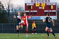 Sky Blue FC defender CoCo Goodson (2) and Western New York Flash forward Abby Wambach (20). Sky Blue FC defeated the Western New York Flash 1-0 during a National Women's Soccer League (NWSL) match at Yurcak Field in Piscataway, NJ, on April 14, 2013.