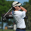 Mickey Brennan of St. Dominic tees off on the 1st Hole of Bethpage State Park's Black Course during the New York State Federation Golf Tournament on Sunday, June 7, 2015. He shot an 8-over 79 to post the lowest score of the four Long Islanders in the 24 person competition.<br />