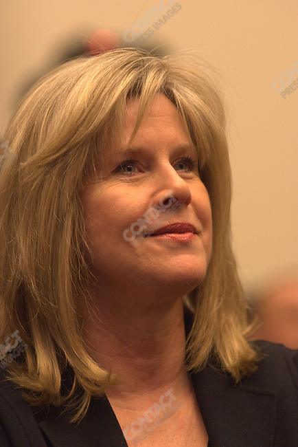 Tipper Gore listens to her husband former Vice President Al Gore testifies about climate change before House and Senate committees. Washington D.C., March 21, 2007