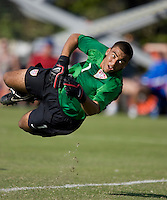 US goalie Earl Edwards (1) makes a save. 2007 Nike Friendlies, which are taking place from Dec. 6-9 at IMG Academies in Bradenton, Fla.
