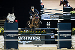 Max Kuhner of Austria riding Clelito Lindo 2 competes in the Longines Grand Prix during the Longines Masters of Hong Kong at AsiaWorld-Expo on 11 February 2018, in Hong Kong, Hong Kong. Photo by Ian Walton / Power Sport Images