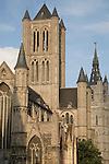 St Niklaaskerk - Nicholas Church and Belfort - Belfry, Ghent, Belgium, Europe