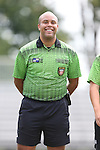30 August 2015: Referee Brandon Artis. The Elon University Phoenix played the Saint Mary's College Gaels at Koskinen Stadium in Durham, NC in a 2015 NCAA Division I Men's Soccer match. Elon won the game 1-0.