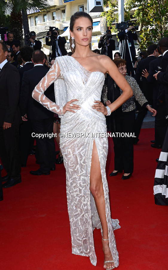 ALESSANDRA AMBROSIO<br /> attends the &quot;Deux Jour, Une Nuit&quot; screening at the 67th Cannes Film Festival, Cannes<br /> Mandatory Credit Photo: &copy;NEWSPIX INTERNATIONAL<br /> <br /> **ALL FEES PAYABLE TO: &quot;NEWSPIX INTERNATIONAL&quot;**<br /> <br /> IMMEDIATE CONFIRMATION OF USAGE REQUIRED:<br /> Newspix International, 31 Chinnery Hill, Bishop's Stortford, ENGLAND CM23 3PS<br /> Tel:+441279 324672  ; Fax: +441279656877<br /> Mobile:  07775681153<br /> e-mail: info@newspixinternational.co.uk
