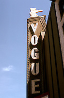 Movie Theatre: Vancouver--Vogue Marquee, Granville St. Photo '86.