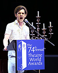 Wesley Taylor during the 74th Annual Theatre World Awards at Circle in the Square on June 4, 2018 in New York City.