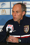 6 February 2007: US interim head coach Bob Bradley. The United States National Team held a press conference and practice at University of Phoenix Stadium in Glendale, Arizona prior to an International Friendly soccer match against Mexico to be held on Wednesday, February 7.