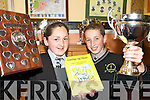 TOP STUDENTS: Top students from Gaelscoil Aogain in Castleisland who were presented with awards for their achievements during the year..L/r. Neasa Nic tSithigh (Student of the Year) and Donal Mac Carthaigh (8 years perfect attendance)   Copyright Kerry's Eye 2008