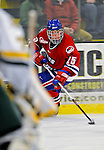 3 February 2008: University of Massachusetts Lowell River Hawks' forward Jason DeLuca, a Freshman from East Moriches, NY, in action against the University of Vermont Catamounts at Gutterson Fieldhouse in Burlington, Vermont. The Catamounts defeated the River Hawks 3-2...Mandatory Photo Credit: Ed Wolfstein Photo