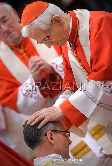 Cardinal Raffaele Farina;Pope Benedict XVI The pontiff appointed two new bishops during the mass. the Solemnity of Epiphany at St Peter's basilica at the Vaticanon January 6, 2012 .