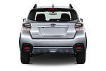 Straight rear view of 2016 Subaru Crosstrek Hybrid-Touring 5 Door SUV Rear View  stock images