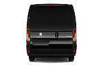 Straight rear view of 2017 Peugeot Boxer l2h2-extended 4 Door Combi Rear View  stock images