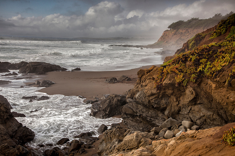 Moonstone Bay is located just north of Cambria on the central California coast.