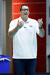 INDIANAPOLIS, IN - MAY 14: UCLA head coach Brandon Brooks looks on during the Division I Women's Water Polo Championship against Stanford University held at the IU Natatorium-IUPUI Campus on May 14, 2017 in Indianapolis, Indiana. (Photo by Joe Robbins/NCAA Photos/NCAA Photos via Getty Images)