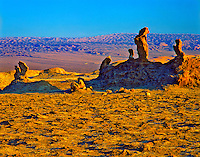 Pinnacles in the Valley of the Moon, Atacama Desert, Chile