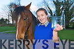 Aoife Stephens Milltown who who her category in the Young Scientist competition in Dublin last week for her experiment about click training horses
