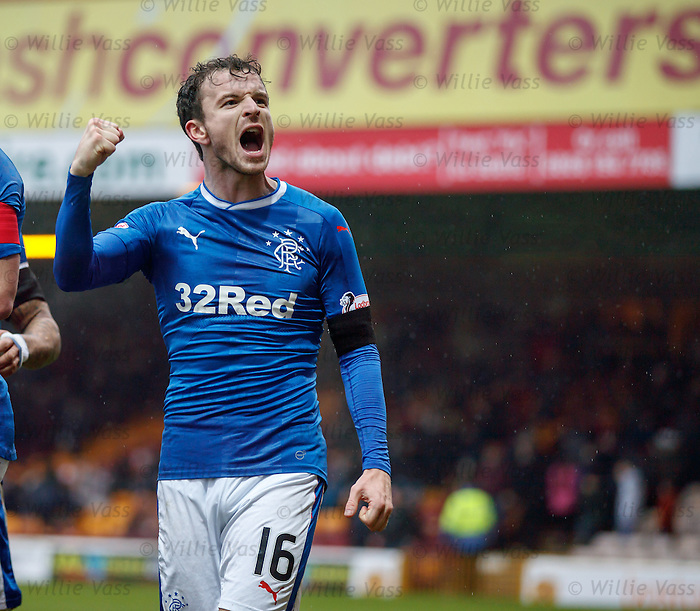 Andy Halliday celebrates after the second goal
