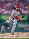 20 May 2014: Cincinnati Reds starting pitcher Johnny Cueto on the mound against the Washington Nationals at Nationals Park in Washington, DC. The Nationals defeated the Reds 9-4 to take the second game of their 3-game series. Mandatory Credit: Ed Wolfstein Photo *** RAW (NEF) Image File Available ***