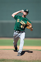 Lynchburg Hillcats relief pitcher Robbie Aviles (41) in action against the Winston-Salem Dash at BB&T Ballpark on August 2, 2015 in Winston-Salem, North Carolina.  The Hillcats defeated the Dash 8-3.  (Brian Westerholt/Four Seam Images)