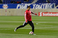 Harrison, NJ - Wednesday Feb. 22, 2017: Dan Metzger prior to a Scotiabank CONCACAF Champions League quarterfinal match between the New York Red Bulls and the Vancouver Whitecaps FC at Red Bull Arena.