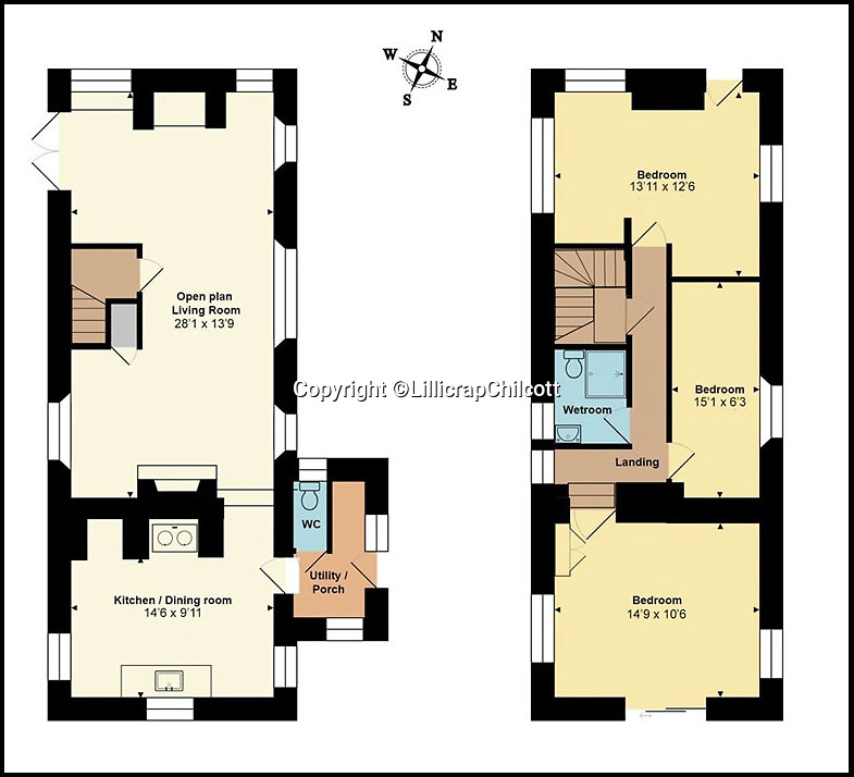 BNPS.co.uk (01202 558833)Pic: LillicrapChilcott/BNPS<br /> <br /> Floor plan.<br /> <br /> Writers' retreat...<br /> <br /> A pretty Cornish cottage that was rented by DH Lawrence during the war and owned by Michael Morpurgo when he wrote War Horse is now on the market for £750,000.<br /> <br /> The two writers had very different experiences in the village of Zennor on the north Cornish coast as Lawrence was accused of spying for the Germans and eventually exiled from the county while Morpurgo's summers there over eight years were considerably quieter.<br /> <br /> But both men used the location as inspiration in their writing, making Tower House the perfect place for wannabe writers looking to escape to the coast.<br /> <br /> The granite home has been in the current owners' hands for the last 25 years but it is now on the market with estate agents Lillicrap Chilcott.