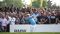 Danny Willett (ENG) on the 17th tee during Round Three of the 2016 BMW PGA Championship over the West Course at Wentworth, Virginia Water, London. 28/05/2016. Picture: Golffile   David Lloyd. <br /> <br /> All photo usage must display a mandatory copyright credit to © Golffile   David Lloyd.