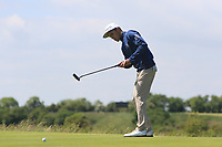 Marcos Montenegro (ARG) on the 1st green during Round 2 of the East of Ireland Amateur Open Championship 2018 at Co. Louth Golf Club, Baltray, Co. Louth on Sunday 3rd June 2018.<br /> Picture:  Thos Caffrey / Golffile<br /> <br /> All photo usage must carry mandatory copyright credit (&copy; Golffile | Thos Caffrey)
