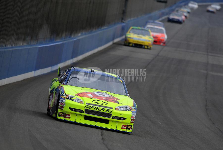 Oct. 11, 2009; Fontana, CA, USA; NASCAR Sprint Cup Series driver Mark Martin during the Pepsi 500 at Auto Club Speedway. Mandatory Credit: Mark J. Rebilas-