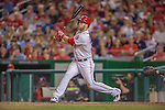 20 September 2013: Washington Nationals outfielder Bryce Harper in action against the Miami Marlins at Nationals Park in Washington, DC. The Nationals defeated the Marlins 8-0 to take the second game of their 4-game series. Mandatory Credit: Ed Wolfstein Photo *** RAW (NEF) Image File Available ***