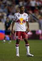 Thierry Henry (14) of the New York Red Bulls watches the action during the Barclays New York Challenge at Red Bull Arena in Harrison, NY.  Tottenham defeated the New York Red Bulls, 2-1.