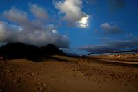 Moon light showing beach area, Corralejo sand dunes,Fuerteventura, Canary Islands, Spain