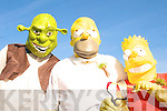 PARADE: Shrek, Homer and Bart joined in the fun at the St Patrick's Day Parade in Milltown on Tuesday morning.